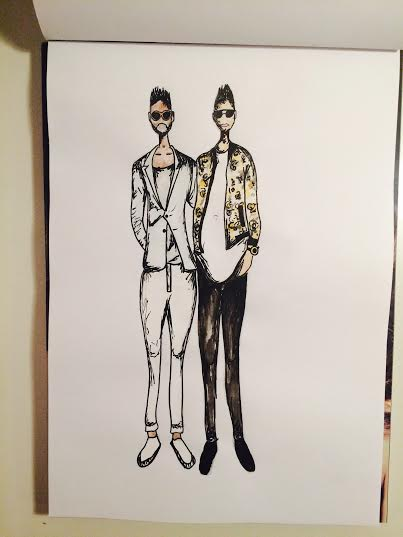 tinie tempah lewis hamilton fashion illustration mens style lcm drawing art inspo