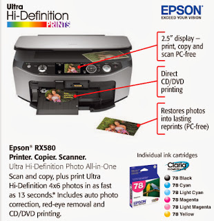 Download Epson Stylus Photo RX580 Printer Driver & instructions install
