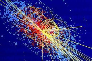 Simulation of a particle collision in which a Higgs boson is produced (Image Credit: Lucas Taylor / CMS and CERN)