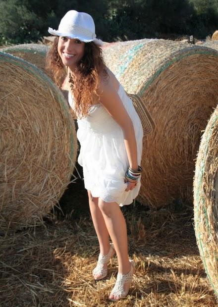 vestido blanco campestre