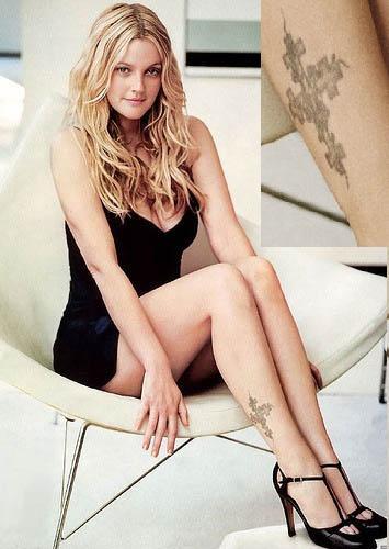 Drew Barrymore Tattoo Breathe