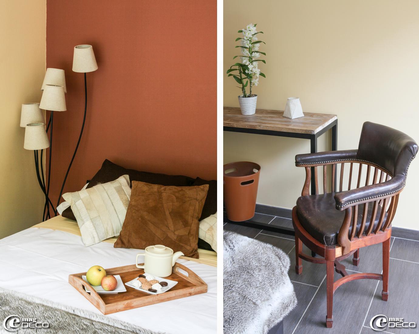 Peinture chambre beige chocolat for Decoration chambre camaieu orange