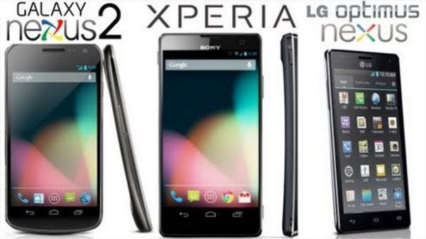 Samsung Galaxy Nexus 2, Sony Xperia Nexus e LG Optimus Nexus