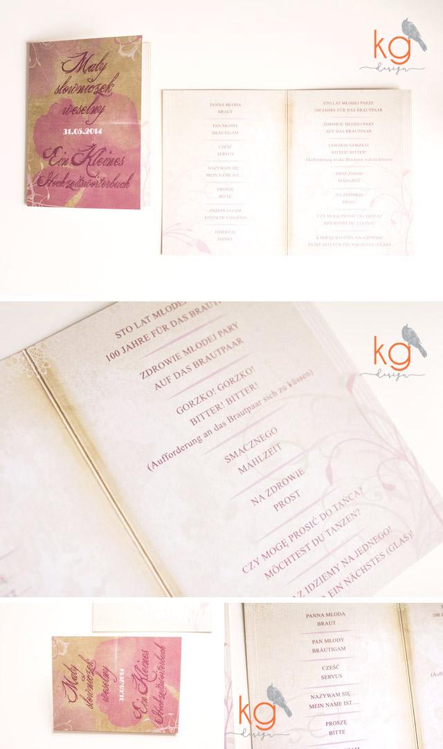 winietki prostokątne, zawieszki na alkohol, etykiety na dodatkowy alkohol (nalewki), instrukcje do księgi gości w postaci plakatu z drzewkiem na odciski, numery stołów, plan stołów w formie plakatu, podziękowanie dla gości na lizaki, naklejane etykiety na ciasto, składane i wolnostojące menu weselne, menu z drinkami, nadruk na płycie DVD, napis na wstążce z imionami Młodych, naklejki na nalewki, naklejki na alkohol, dodatki ślubne, dodatki weselne, dekoracje stołów, Piwoniowy vintage, Malinowy vintage, dodatki w stylu vintage, oryginalne i nietypowe, kg design, postarzane,