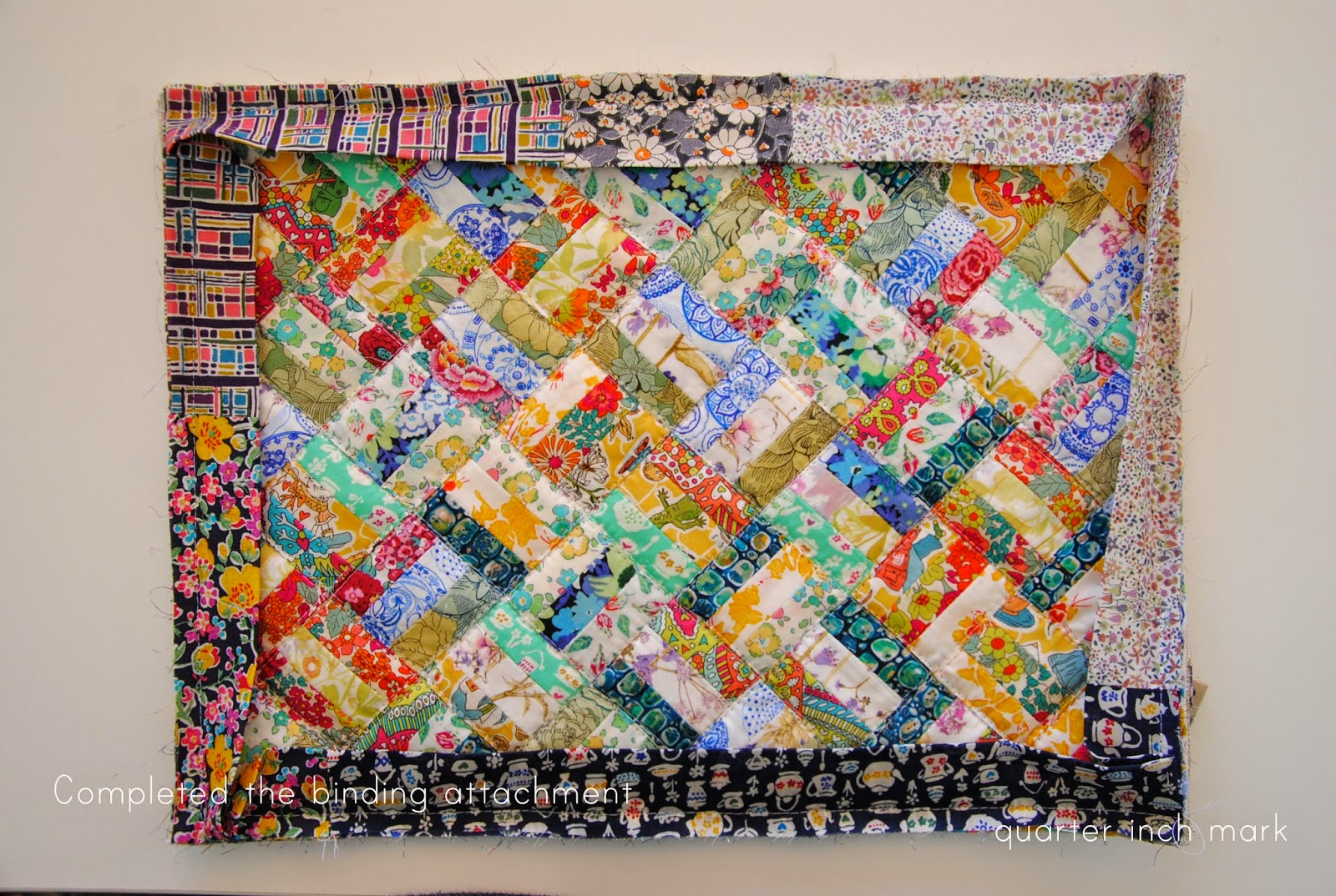Patchwork Book Cover Pattern ~ Quot mark tutorial hana patchwork book planner cover