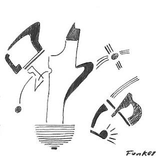 Zeichnung Bild / painting picture : Lampentorso / blubtorso