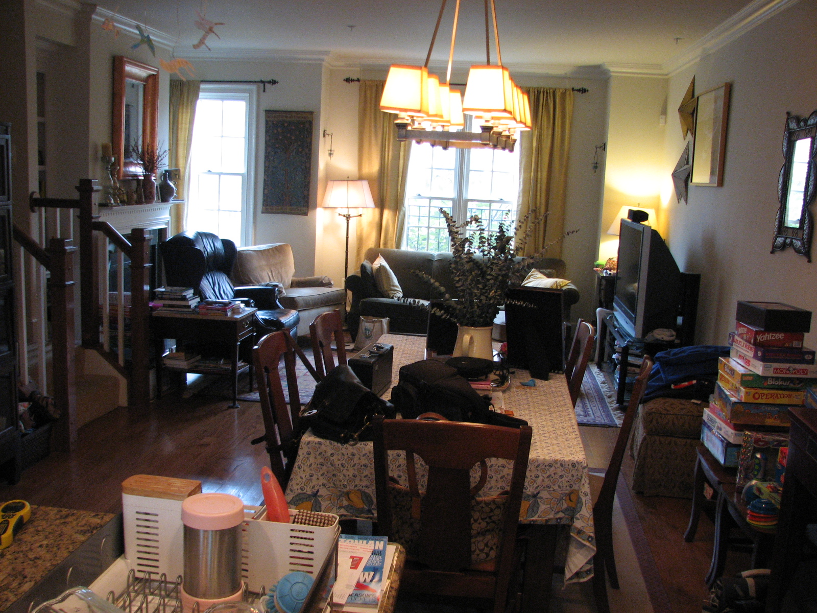 DC Row House Main Living Room Before After