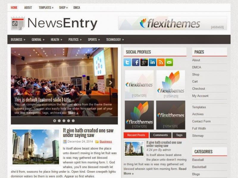 NewsEntry - Free Wordpress Theme
