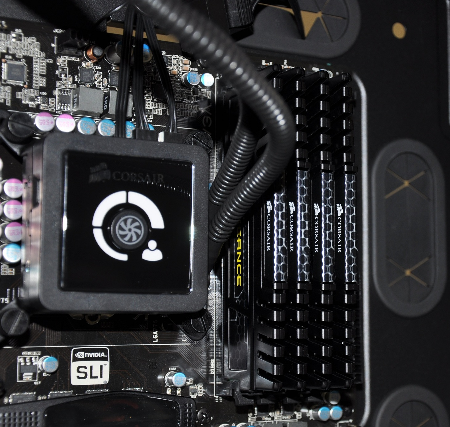 How To Install Hydro Series H100 Extreme Performance Liquid Cpu Corsair H100i V2 Water Cooler Picture 17