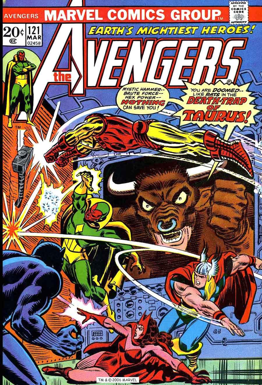 Avengers V1 1 Marvel Comic Book Cover