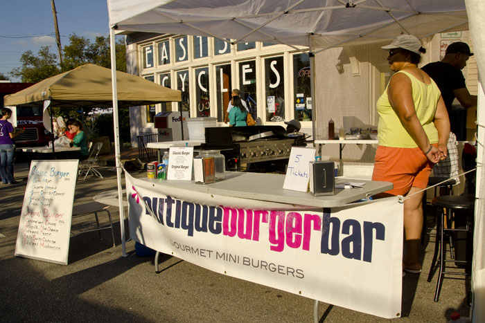 Boutique burger bar at the Feastival food festival in Nashville Tennessee