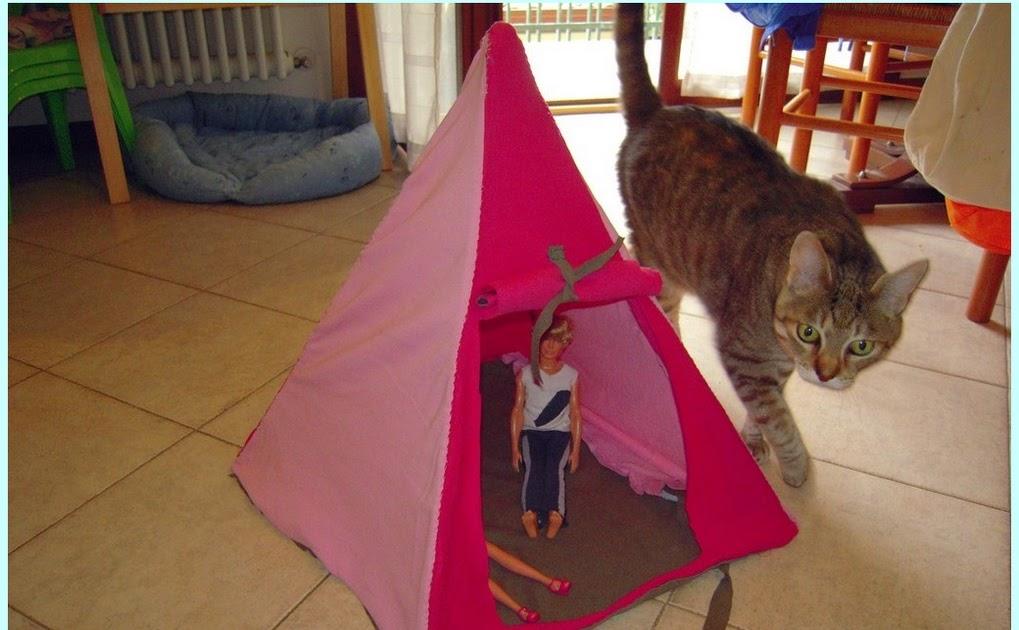 Mamma claudia e le avventure del topastro tenda per barbie 2 for Oggetti per barbie fai da te