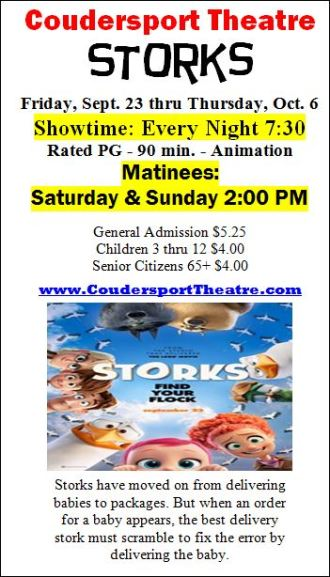 Showing nightly thru October 6