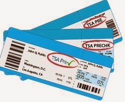Boarding Passes w/ TSA precheck Logos