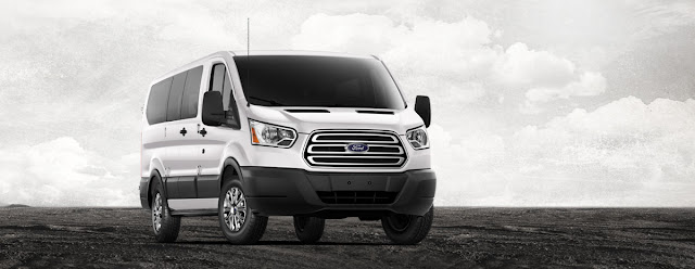 Front 3/4 view of 2015 Ford Transit 150 XLT Wagon