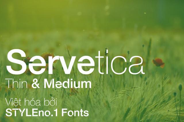 [Sans-serif] Servetica Việt hóa
