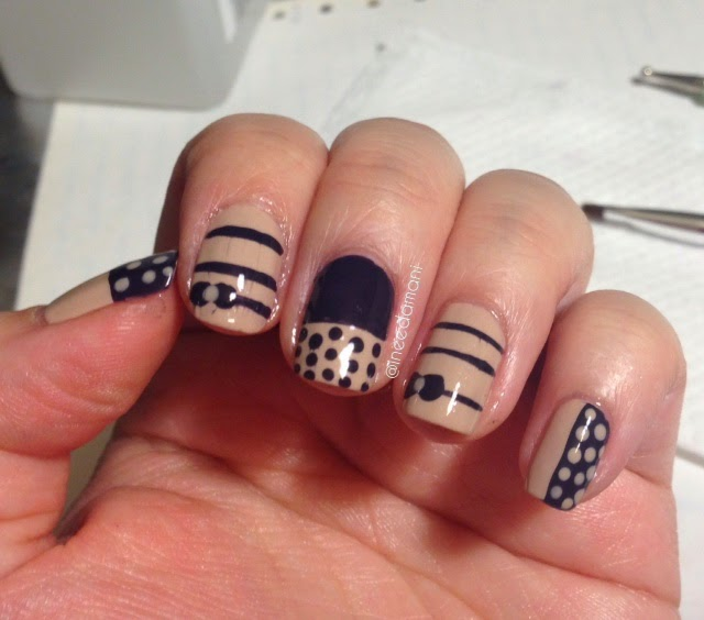 laura merino polka dots and bows nail fail