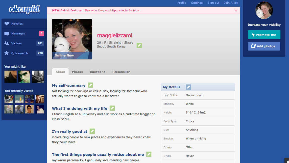 okcupid profile template.html
