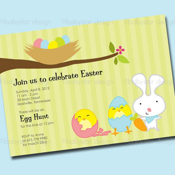 Babystar Design – Easter Invitations Template