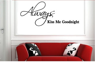 kiss me goodnight muah quota and saying