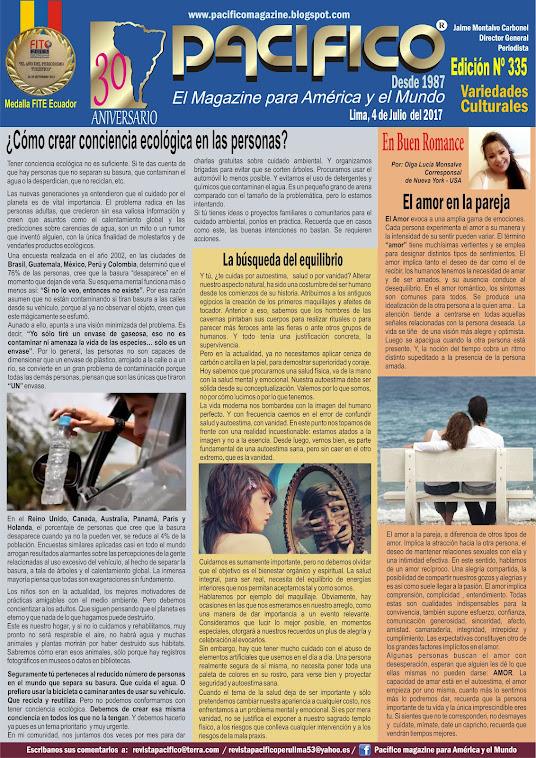 Revista Pacífico Nº 335 Variedades Culturales