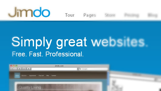 Create free website jimdo webmail