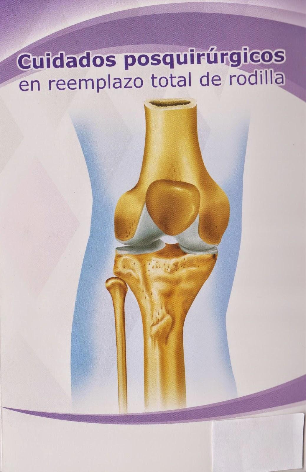cuidado terapéuticos posoperatorio rodilla