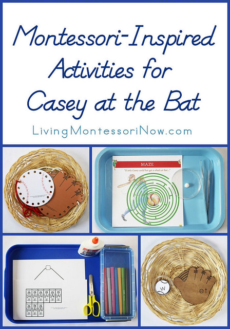 http://livingmontessorinow.com/2014/04/18/montessori-inspired-activities-for-casey-at-the-bat/