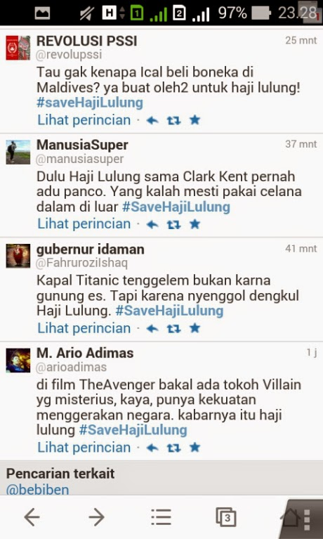 #SaveHajiLulung