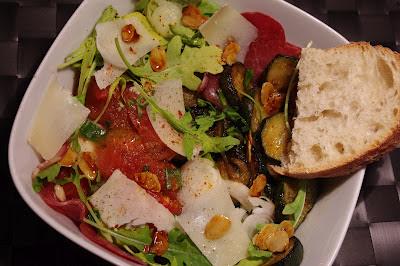 Salade courgettes aigres-douces et coppa