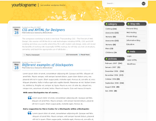FluidYellow Blogger Template