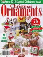 FIND BLUE RIBBON DESIGNS IN THE JUST CROSSSTITCH 2013 ANNUAL CHRISTMAS ORNAMENT ISSUE