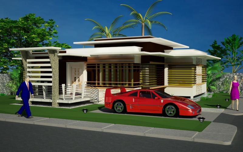 Modern bungalows exterior designs HOME IDEAS