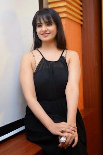 Actress Saloni Aswani Picture Gallery in Black Long Dress at (GAMA) Gulf Andhra Music Awards 2014 Press Meet  6.JPG
