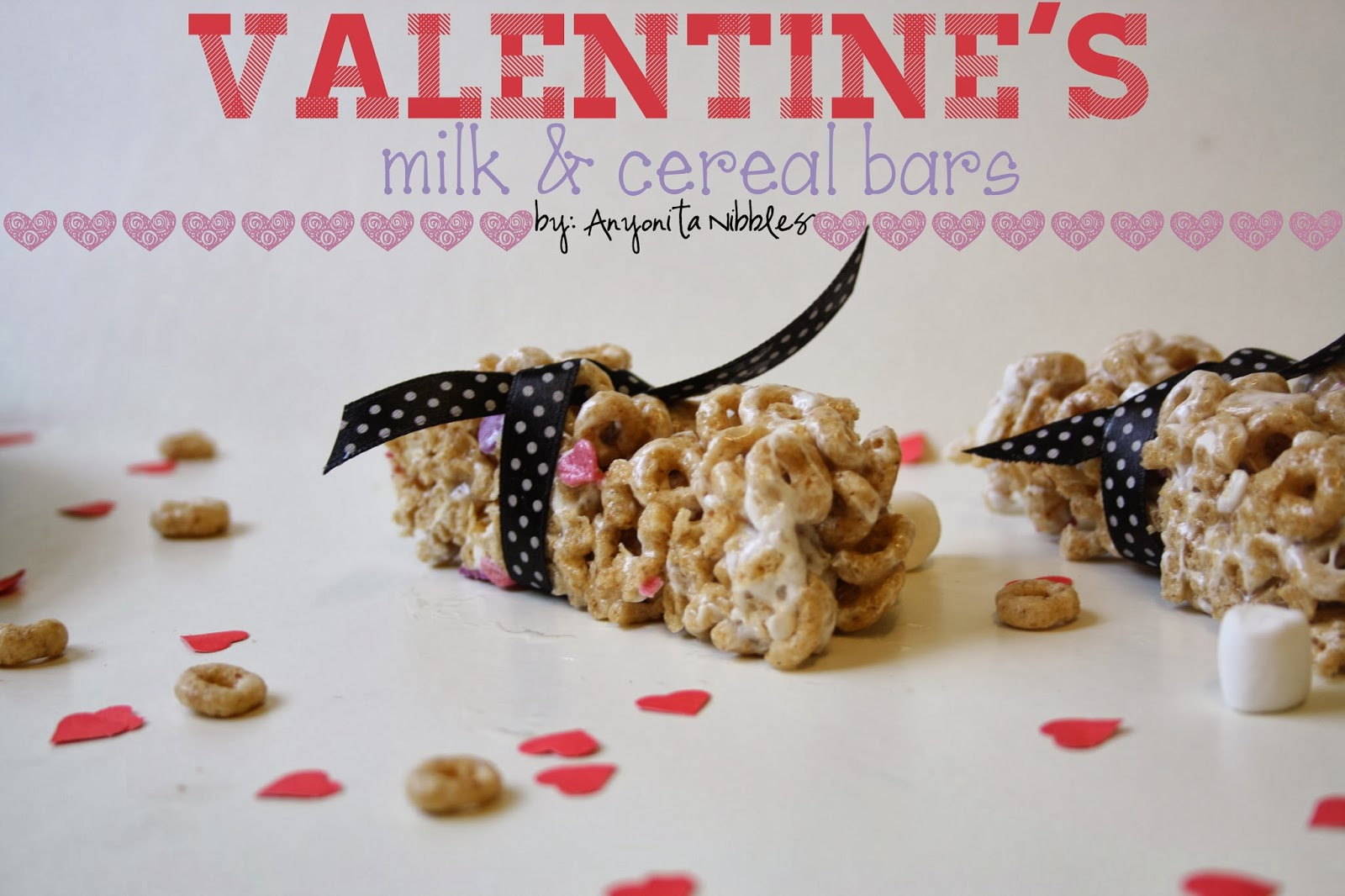 "Valentine's Homemade Milk & Cereal ""I love how easy these cereal bars are to make! I'll never buy another cereal bar again!"""
