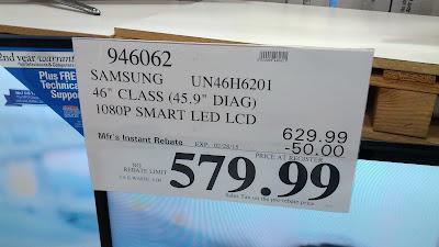 Samsung 46in UN46H6201FXZA HDTV deal at Costco