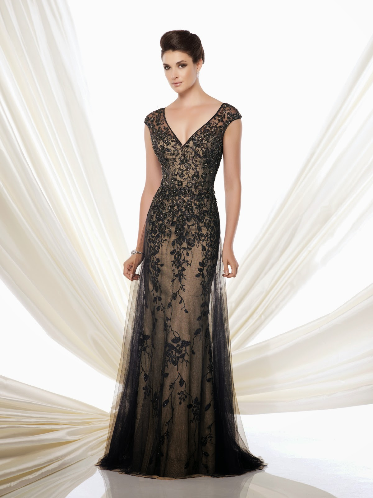 Mother of the Bride Dresses by Mon Cheri black nude