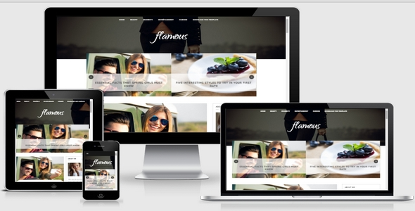 Flamous Responsive Blogger Template Free Download