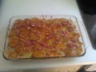 Receta de lasaña de patatas a la bechamel con lomo