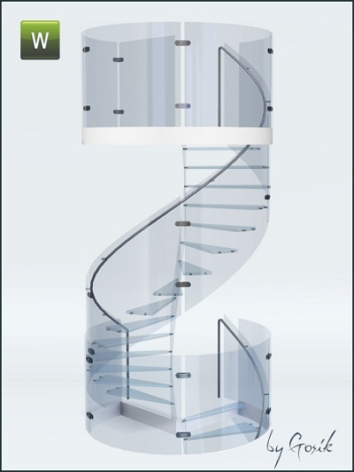 Glass Spiral Staircase By Gosik