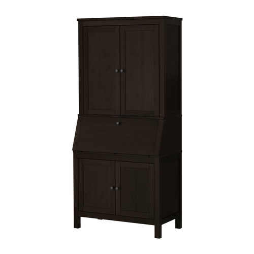 bureau hemnes hemnes bureau white stain ikea computer. Black Bedroom Furniture Sets. Home Design Ideas