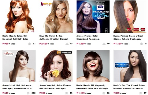 Ensogo, hair treatment, hair color, brazilian, beauty salon philippines