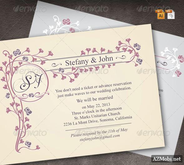Classic Wedding Invitation – GraphicRiver