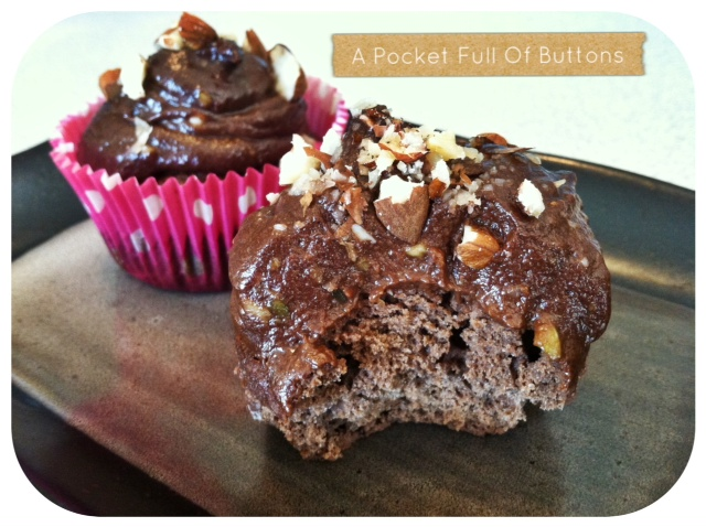 ... Of Buttons: Paleo Chocolate Cupcakes with Chocolate Frosting {recipe