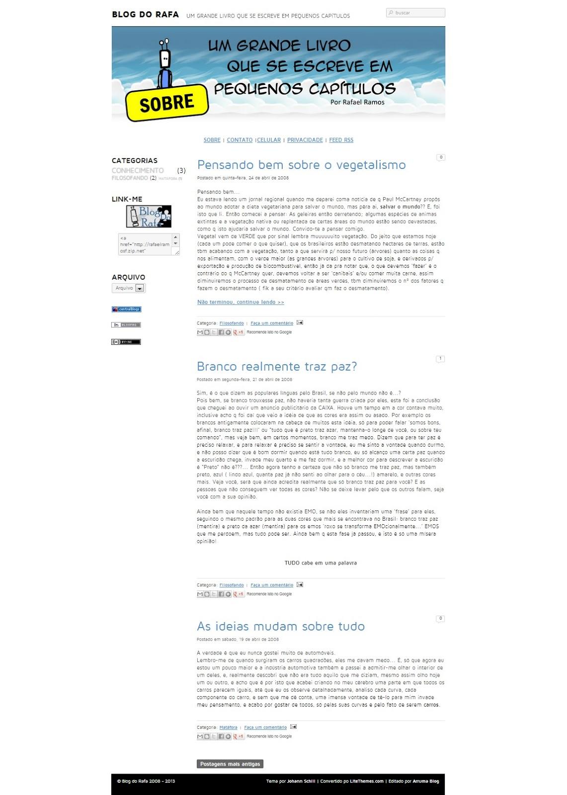 Blog do Rafa - Novo modelo