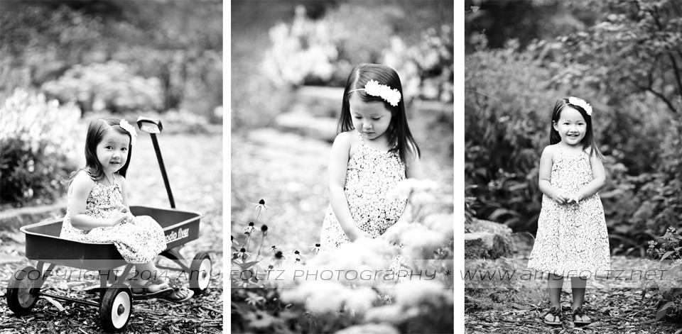 photoshoot with little girl at Deming Park in Terre Haute