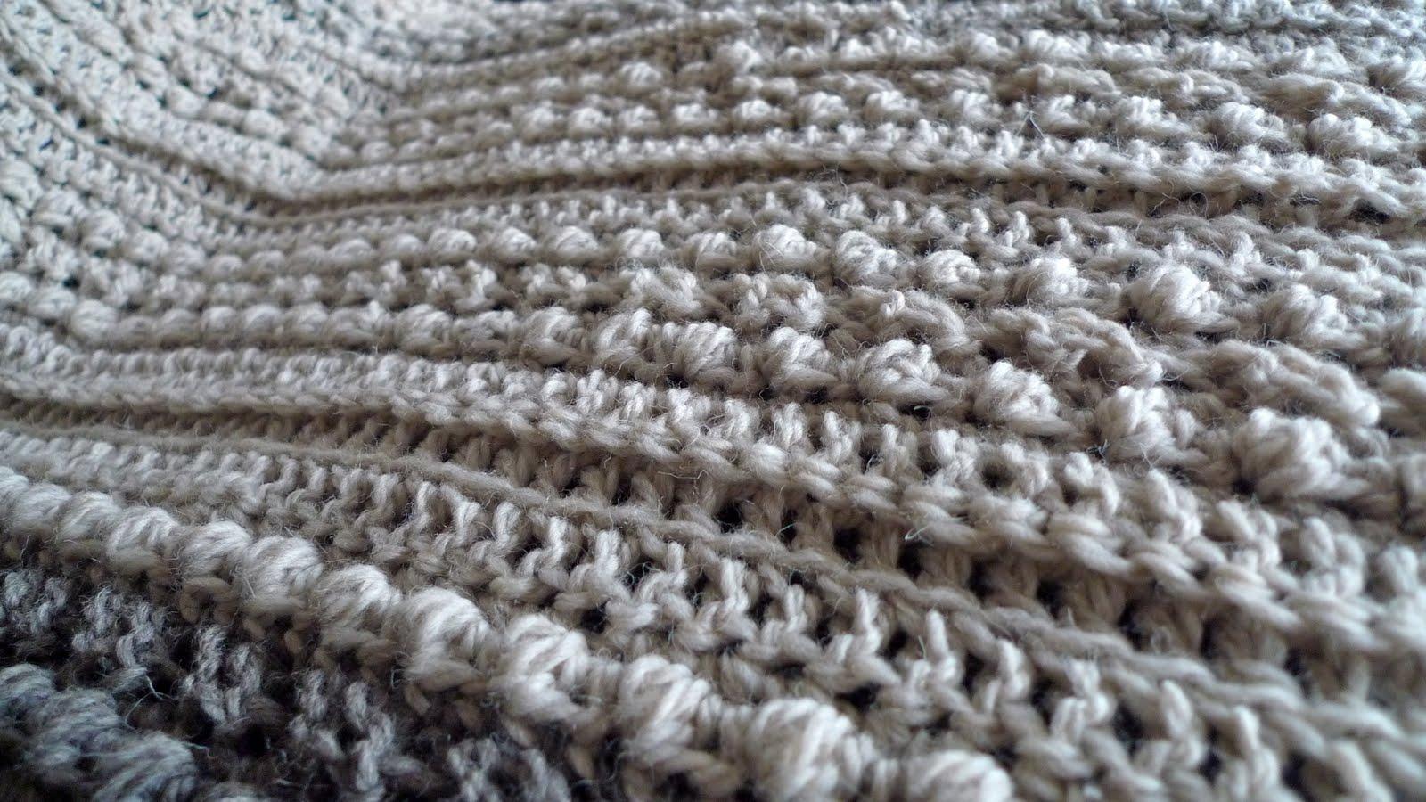 Queen Heron Creations: Crocheted Aran Afghan in Progress