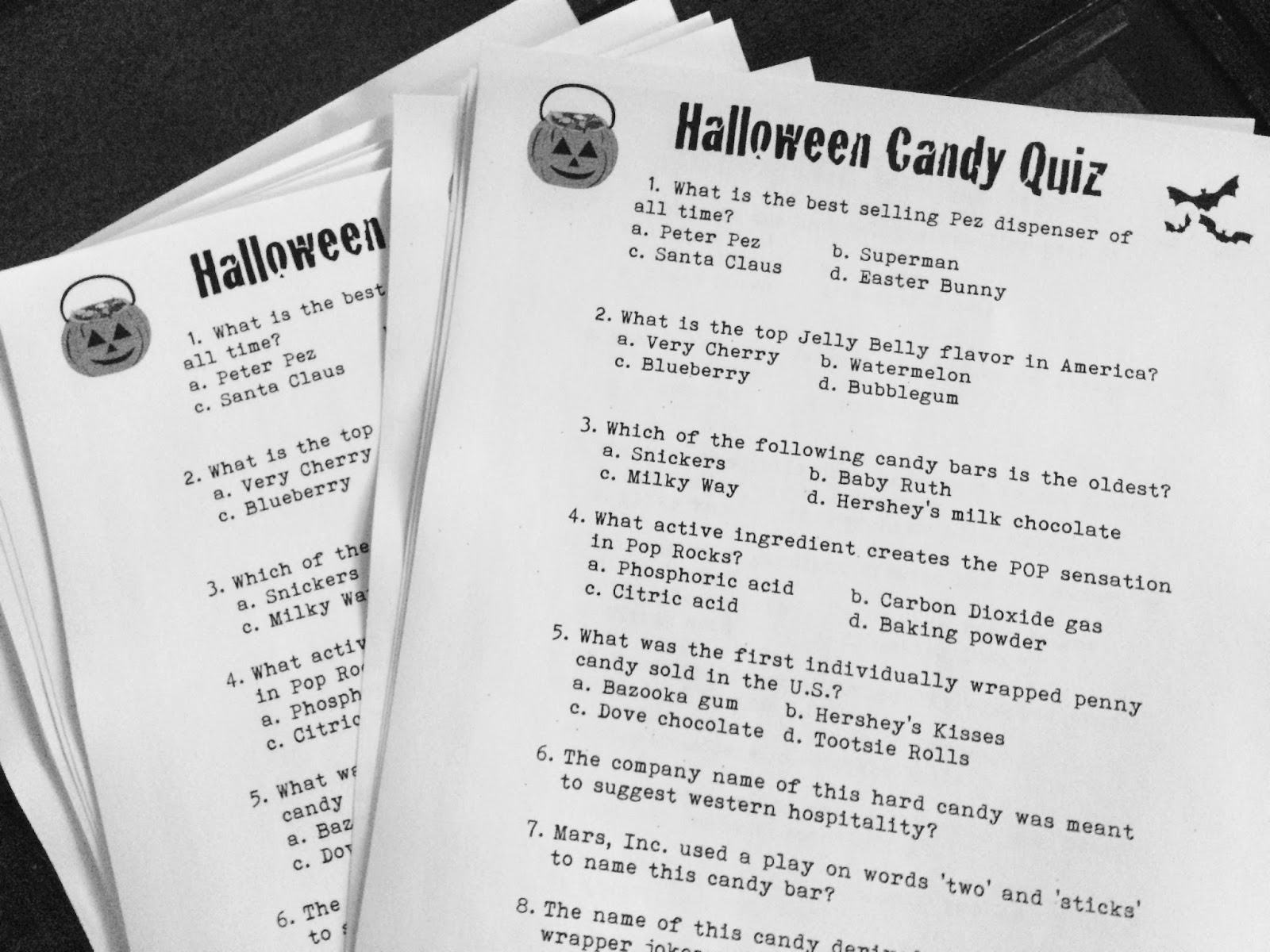 Marci Coombs: Halloween Candy Quiz 2015.