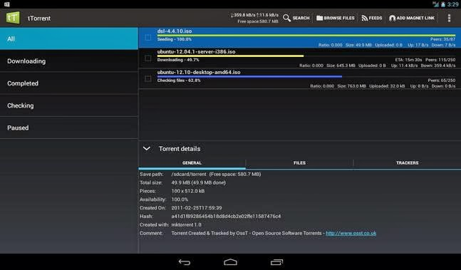 tTorrent - Torrent Client App android apk - Screenshoot