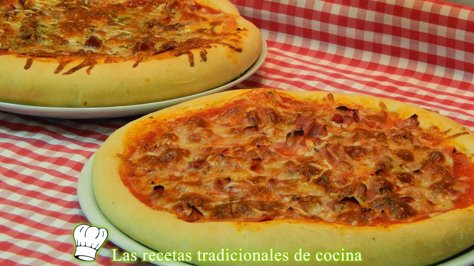 Receta de masa gruesa para pizza